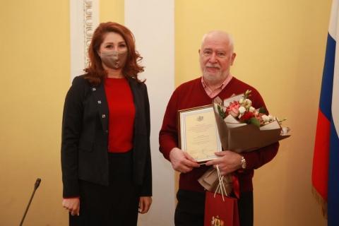 Юлия Рокотянская поздравила Почетного гражданина Рязани Михаила Шелковенко