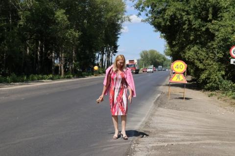 Светлана Ворнакова проверила ход ремонта Ряжского шоссе